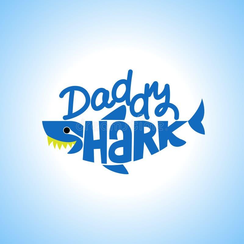Daddy Shark Doo Doo Doo stock illustration