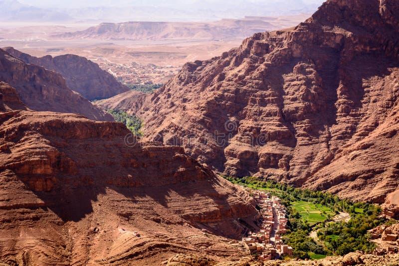 Dades绿洲, Dades峡谷,摩洛哥 免版税图库摄影