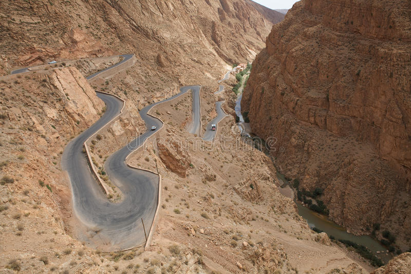 Dades Gorge royalty free stock images
