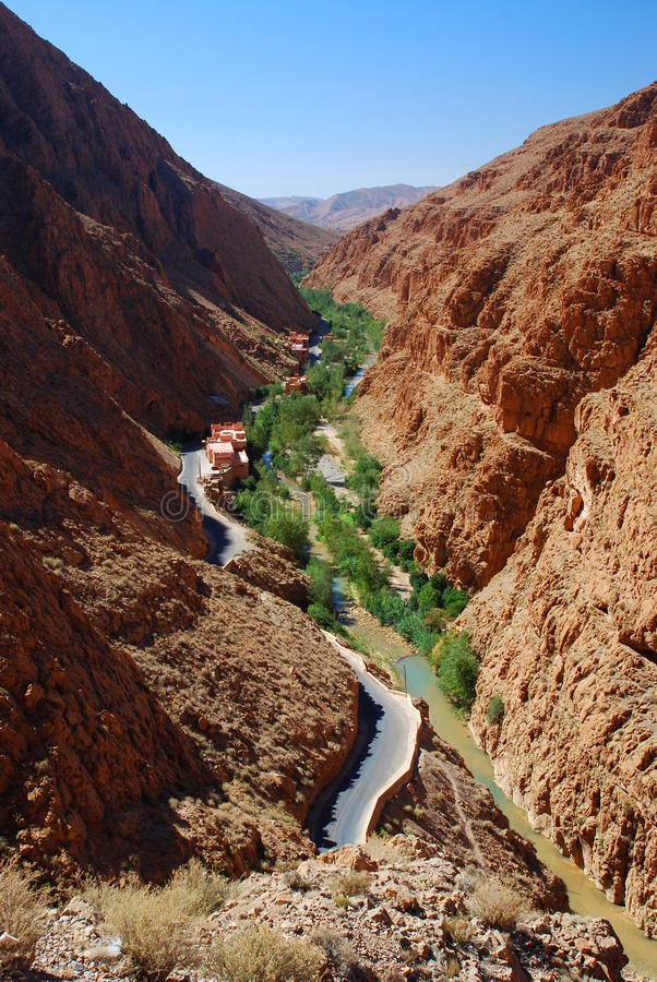 Dades wąwozy. Maroko fotografia stock