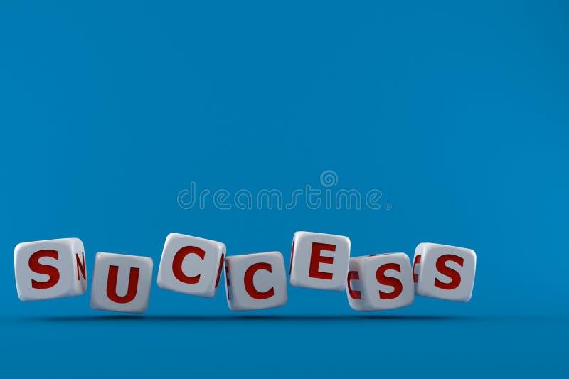 Dadi con il testo di successo royalty illustrazione gratis