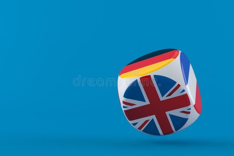Dadi con le bandiere illustrazione di stock