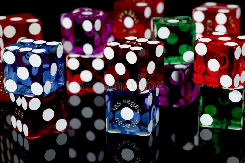 Dadi del gioco delle schifezze di Las Vegas fotografia stock libera da diritti