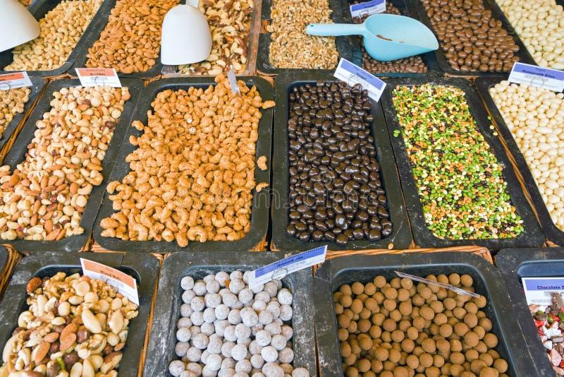 Dadi e cereali immagine stock libera da diritti