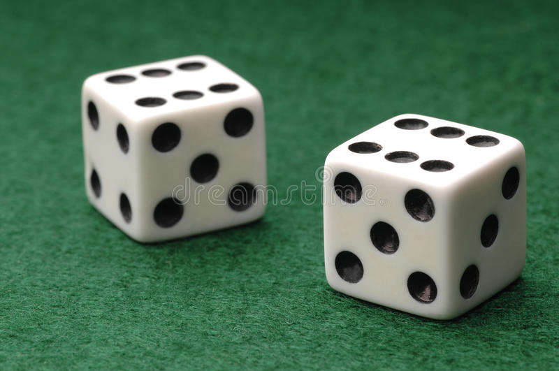 Craps royalty free stock photo