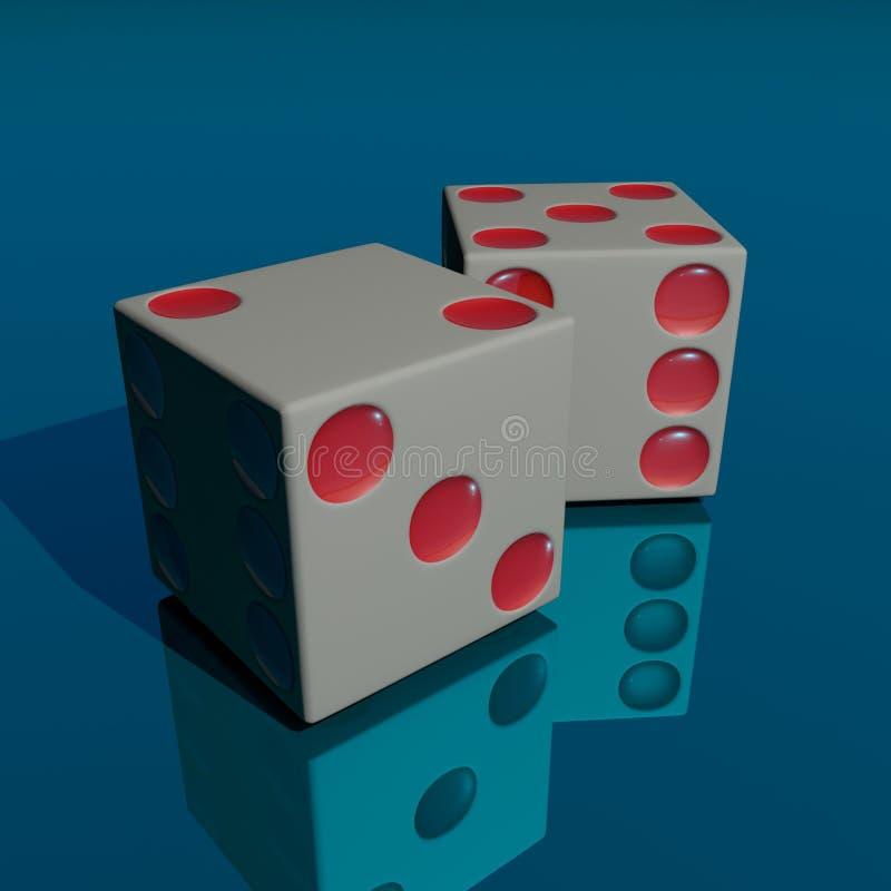 Dados ilustración del vector