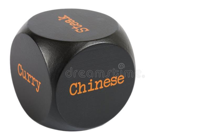 Dados afastados. Chinês fotografia de stock