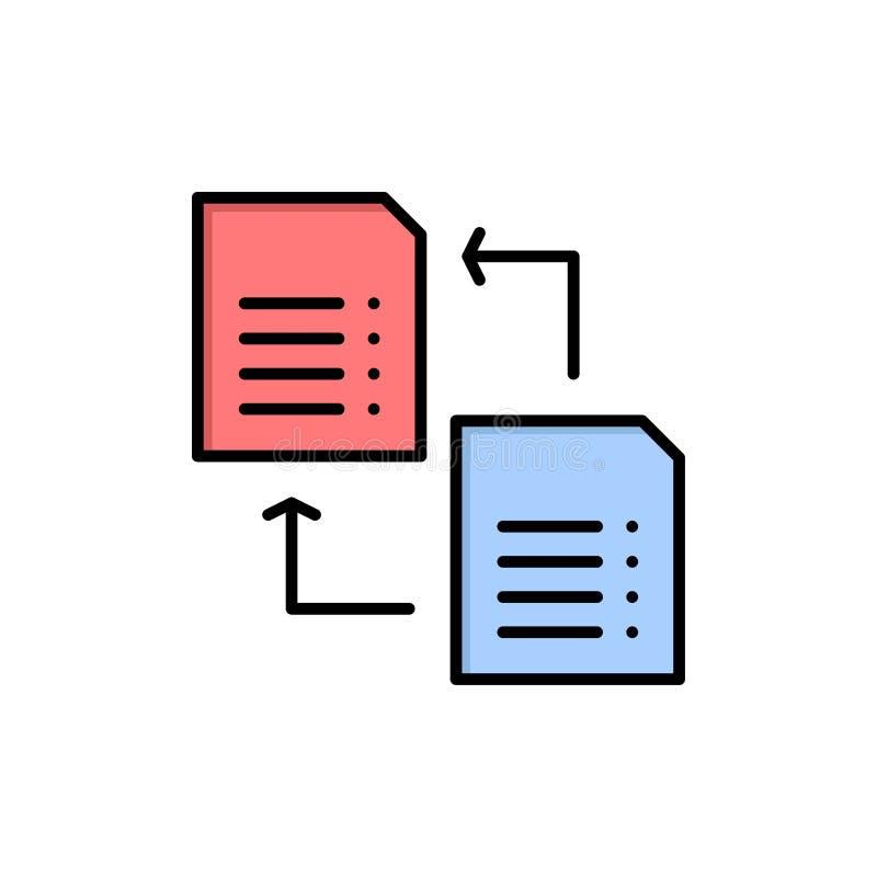 Dados, arquivo, parte, ícone liso da cor da ciência Molde da bandeira do ícone do vetor ilustração royalty free