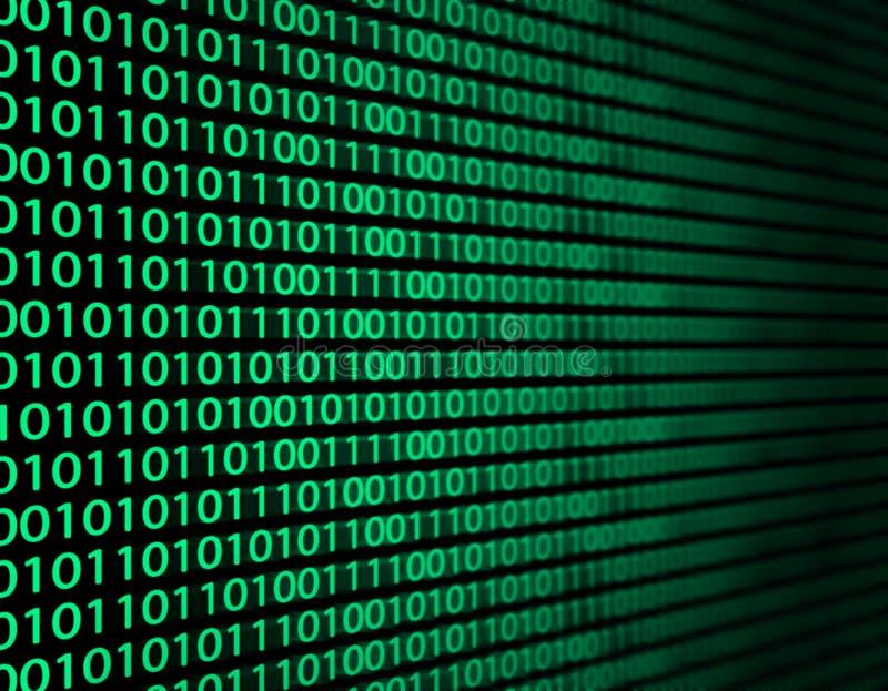 Dados binários ilustração do vetor