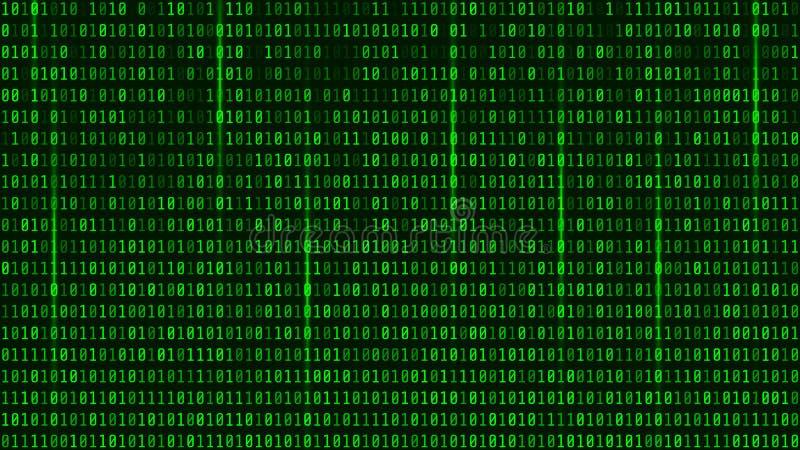 Dados binários de Digitas e fluência do fundo do código binário matriz ilustração stock