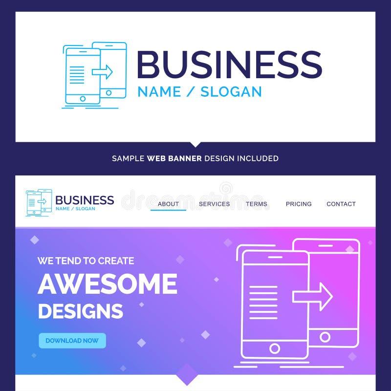 Dados bonitos da marca do conceito do negócio, compartilhando, sincronização, synch ilustração stock