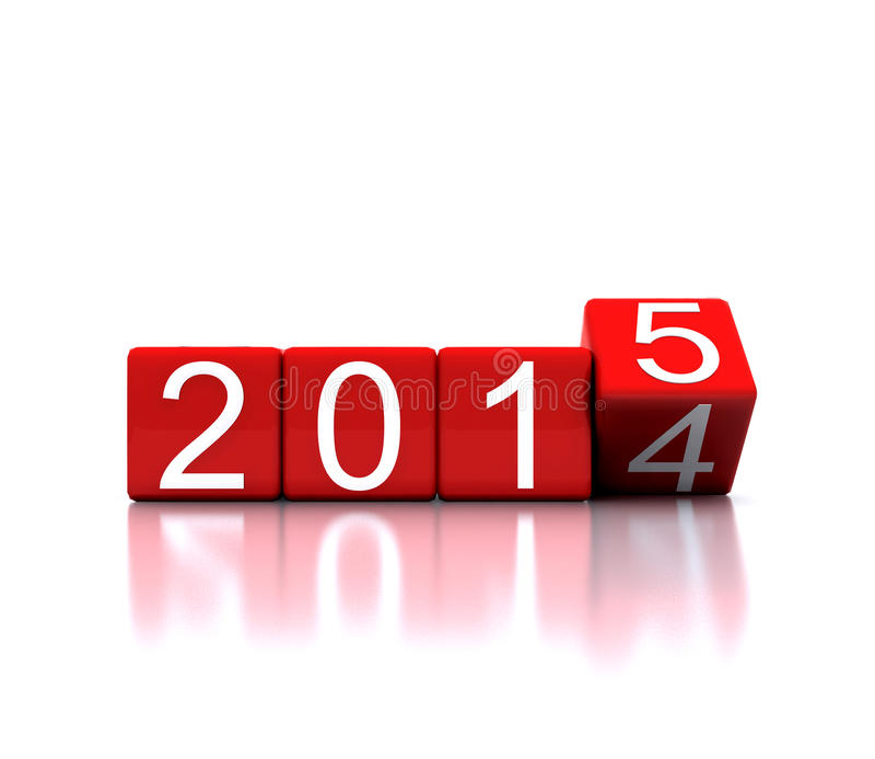 Dados com ano novo 2015 ilustração stock