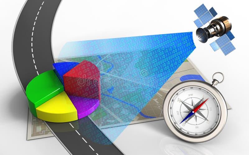 dados comerciais 3d ilustração stock