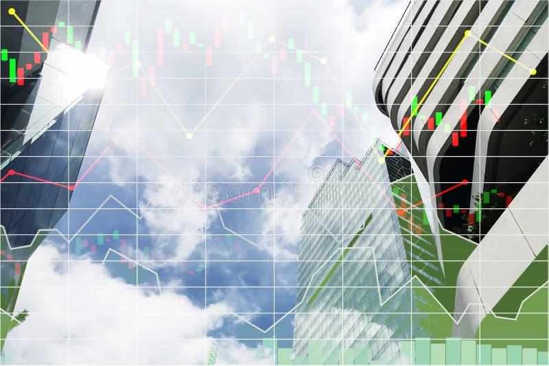 Dados conservados em estoque da pesquisa financeira para o inve industrial da construção imagens de stock