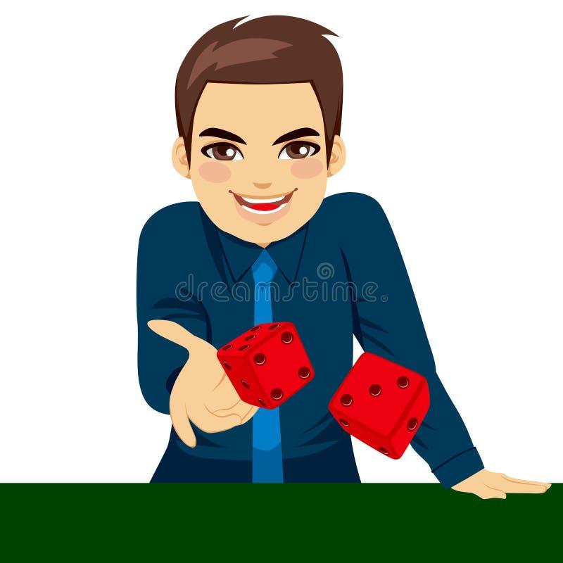 Dados de jogo do homem ilustração stock
