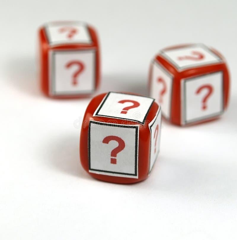 Dados de la pregunta foto de archivo libre de regalías
