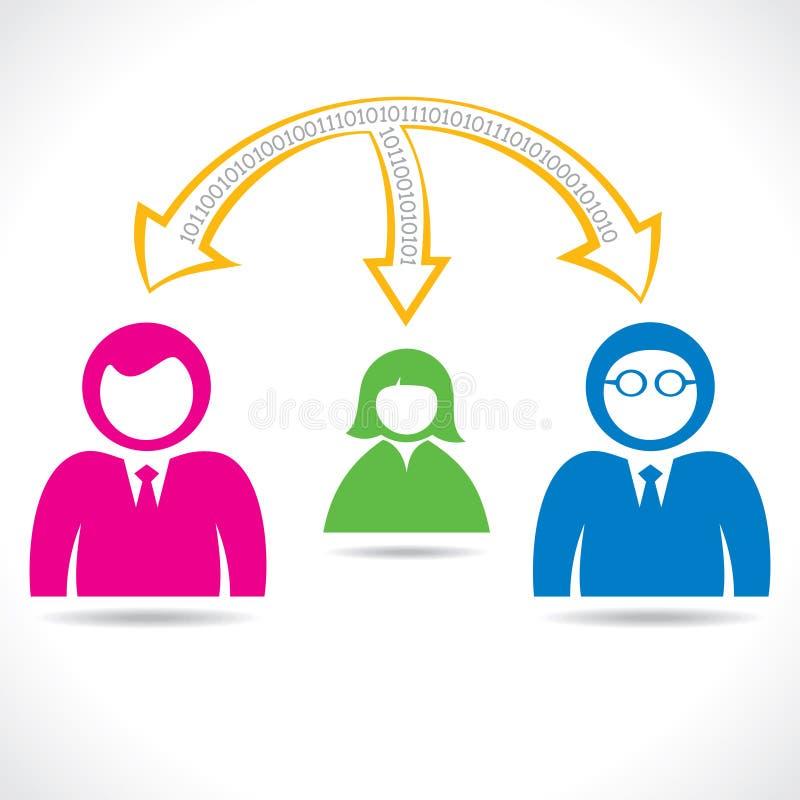 Dados de transferência do grupo de pessoas ilustração royalty free