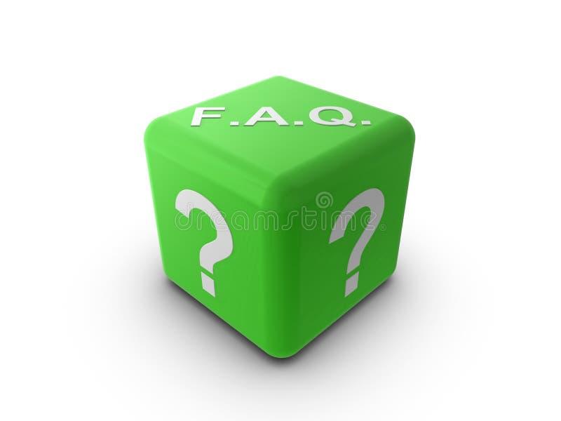 Dados del FAQ stock de ilustración