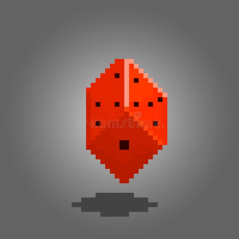 Dados del pixel para los juegos stock de ilustración