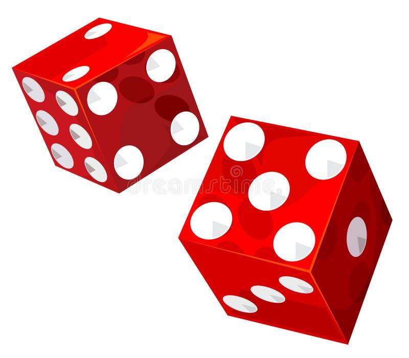 Dados do casino ilustração stock