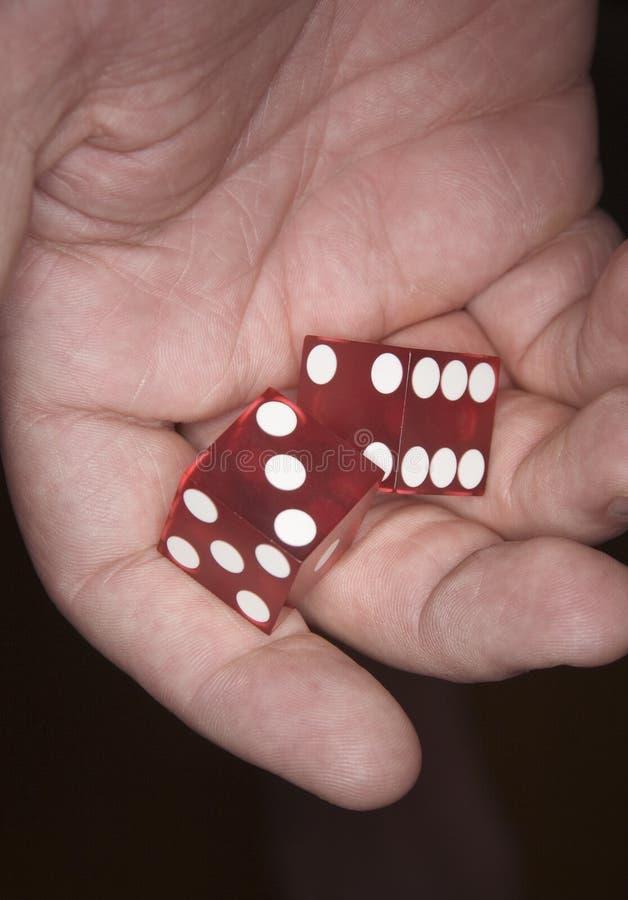 Dados do póquer disponivéis fotografia de stock