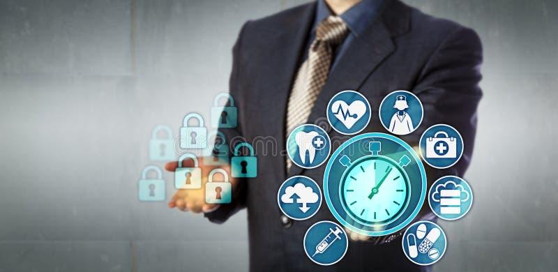 Dados do tempo de Offers Near Real do analista da informação fotografia de stock