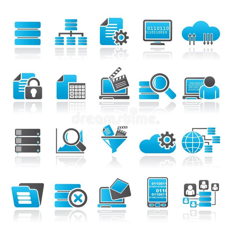 Dados e ícones da analítica ilustração stock