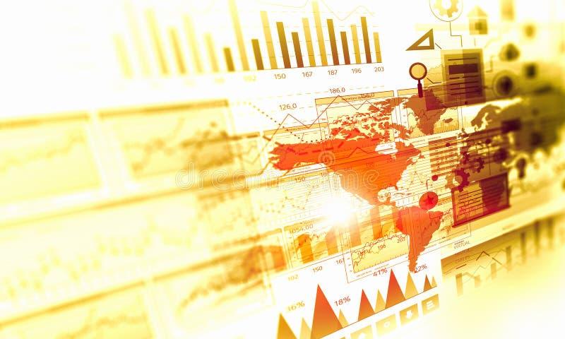 Dados e dinâmica das vendas Meios mistos ilustração do vetor