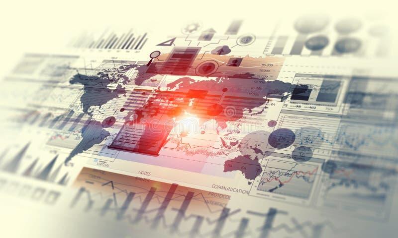 Dados e dinâmica das vendas Meios mistos imagens de stock royalty free