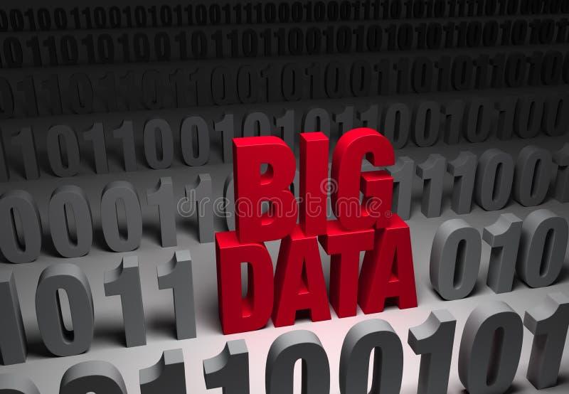 Dados escuros, dados grandes ilustração do vetor