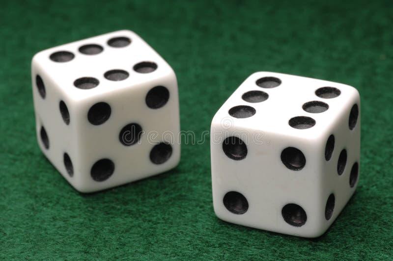 Dados für Spiel stockfotografie
