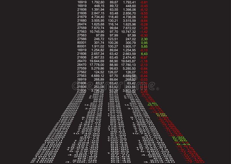 Dados financeiros na perspectiva ilustração royalty free
