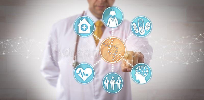 Dados Genomic de integração em trabalhos clínicos imagens de stock