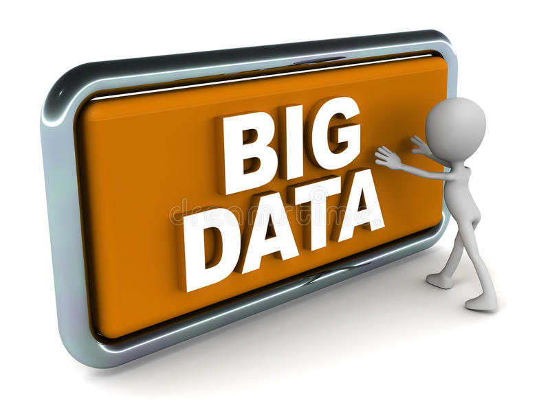 Dados grandes ilustração stock