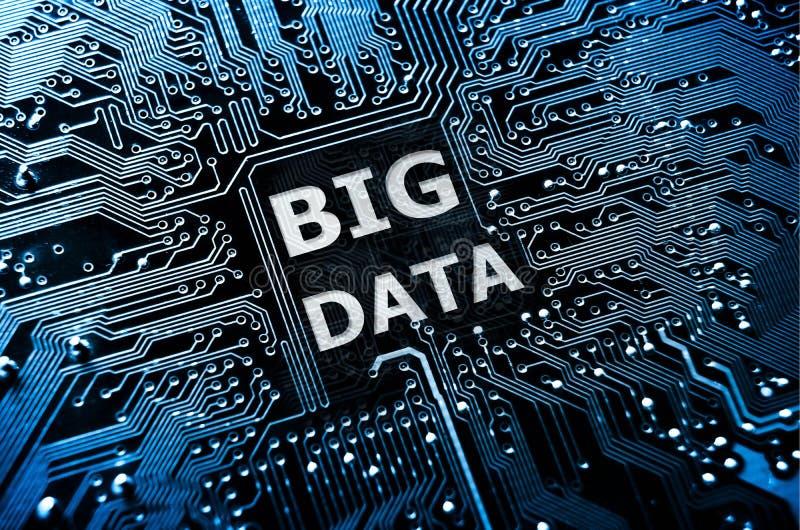 Dados grandes imagem de stock