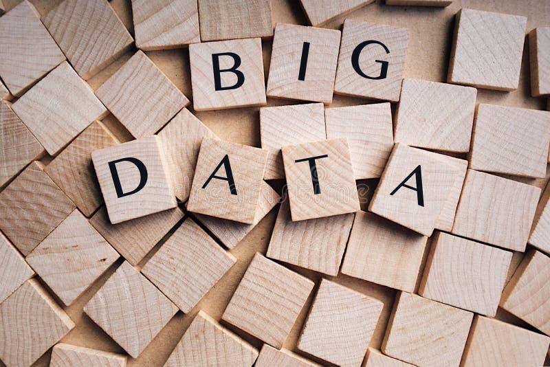 Dados grandes foto de stock