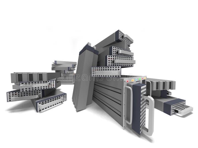 Dados grandes do server do computador ilustração do vetor