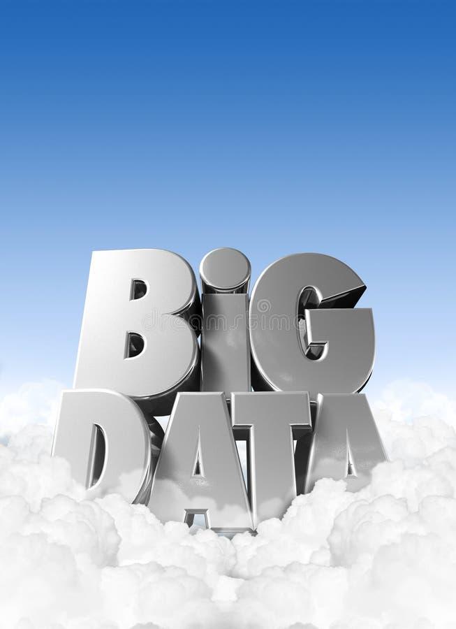 Dados grandes nas nuvens ilustração royalty free