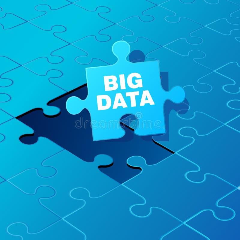 Dados grandes no enigma ilustração stock