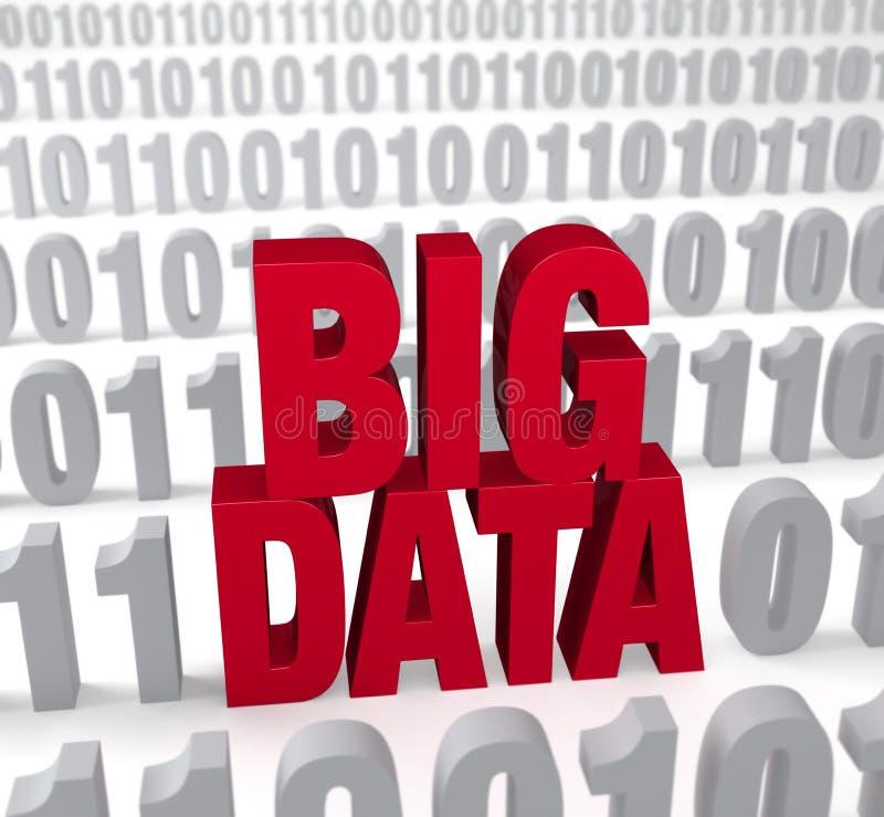 Dados grandes nos números ilustração stock