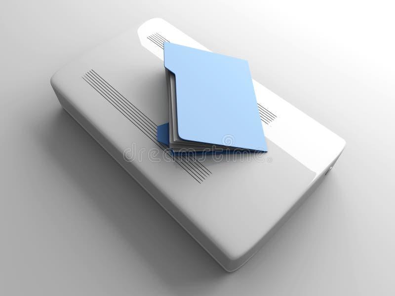 Dados móveis ilustração do vetor