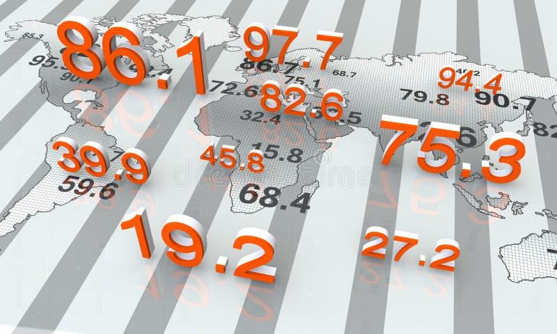 Dados numéricos ilustração royalty free