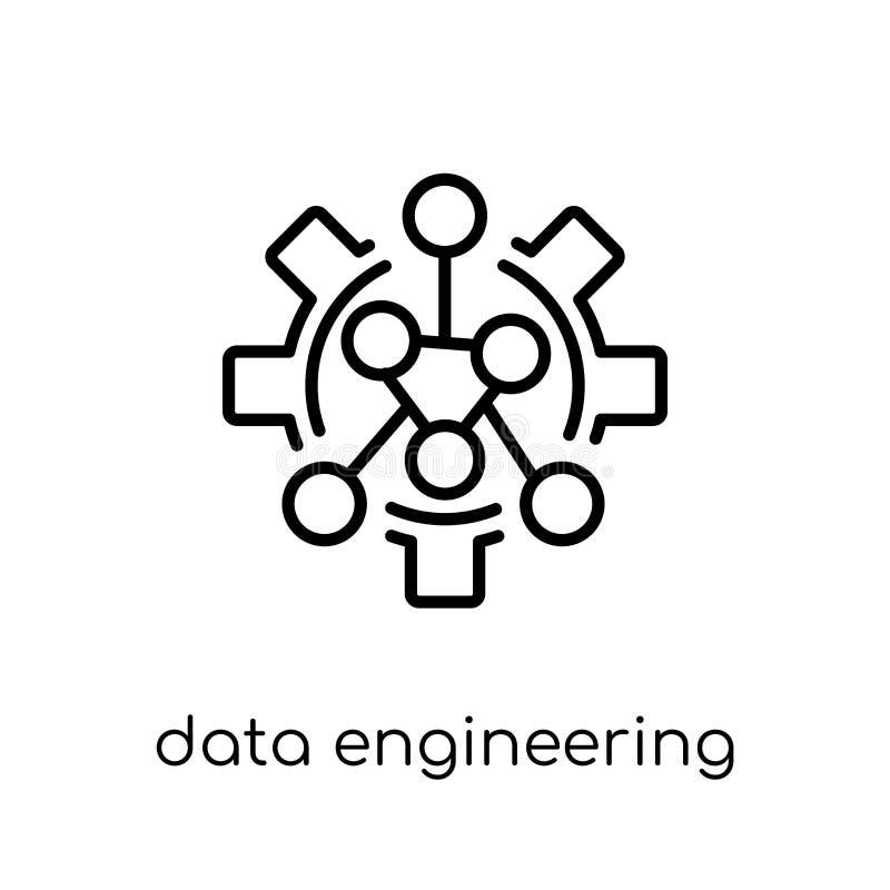 dados que projetam o ícone Dados lineares lisos modernos na moda do vetor ingleses ilustração royalty free