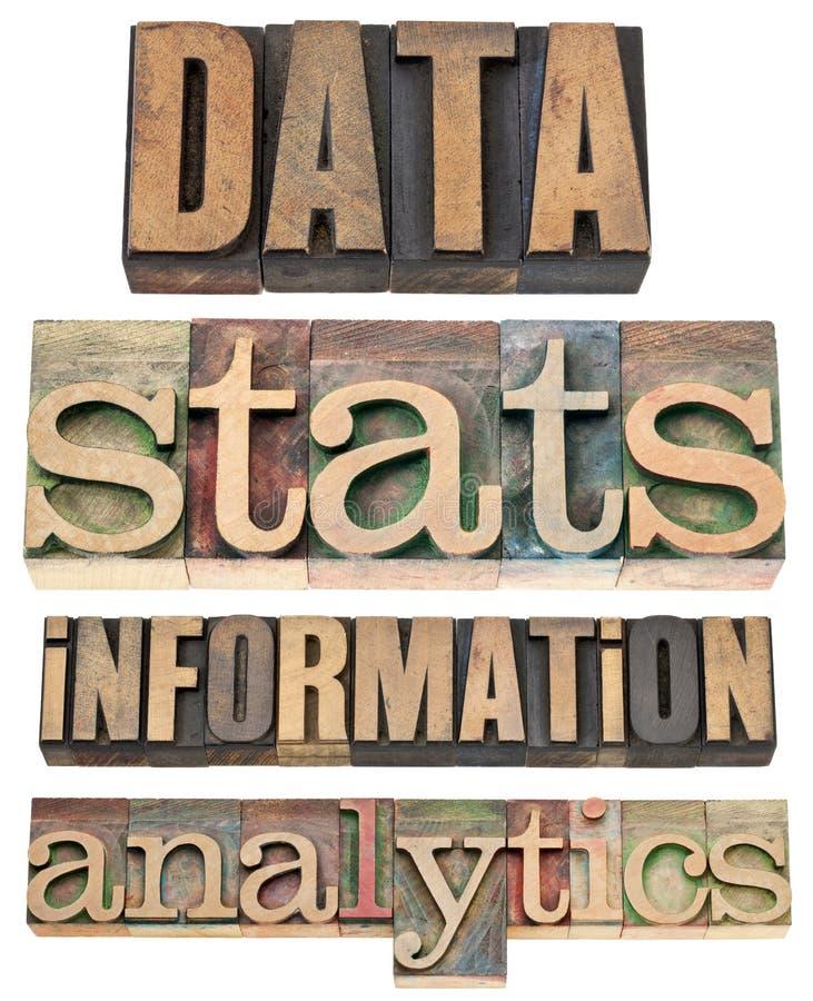 Dados, stats, informação, analítica imagem de stock royalty free