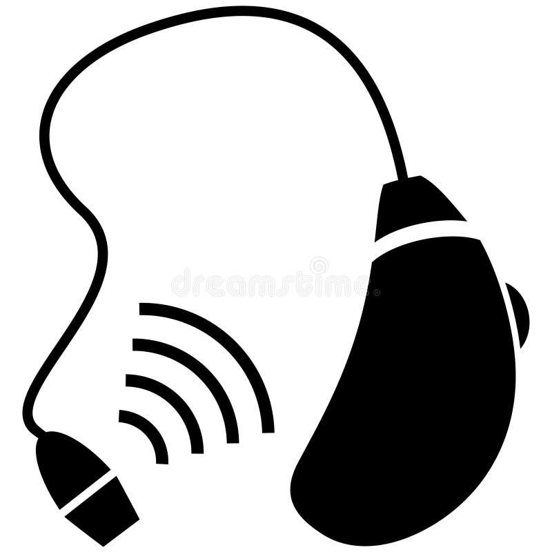 Dae (dispositivo automático de entrada) de audição ilustração stock