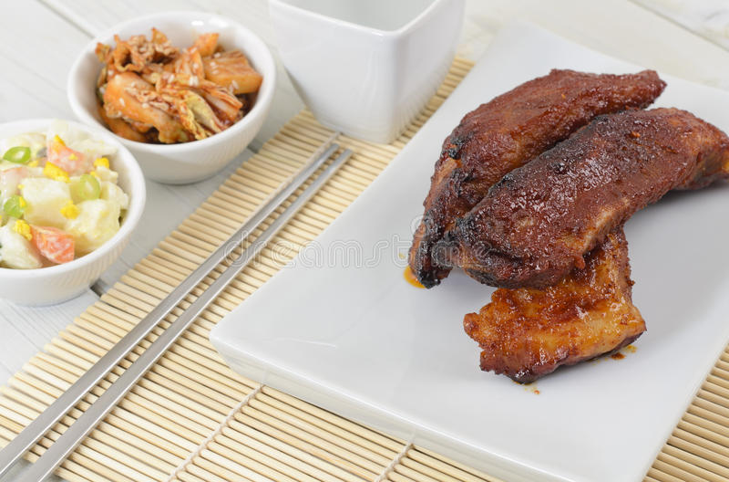 Download Daeji Galbi stock image. Image of onion, plate, baby - 24072159