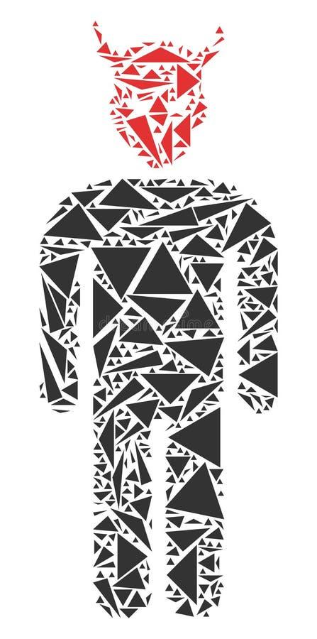 Daemon Mosaic von Dreiecken stock abbildung