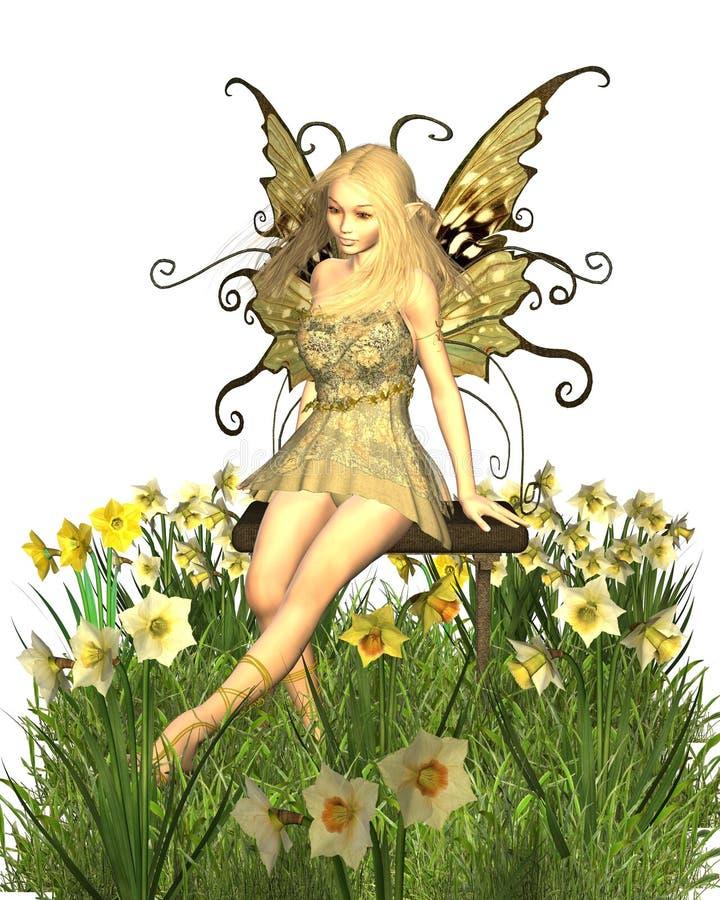 daffodil czarodziejka ilustracji
