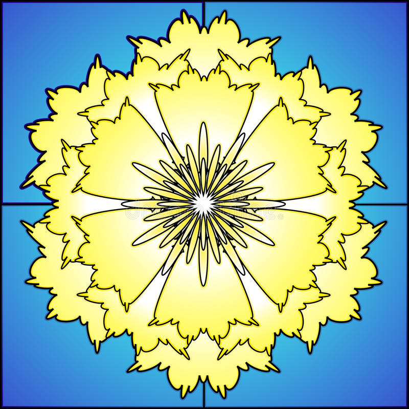 Daffodil do vidro manchado ilustração stock