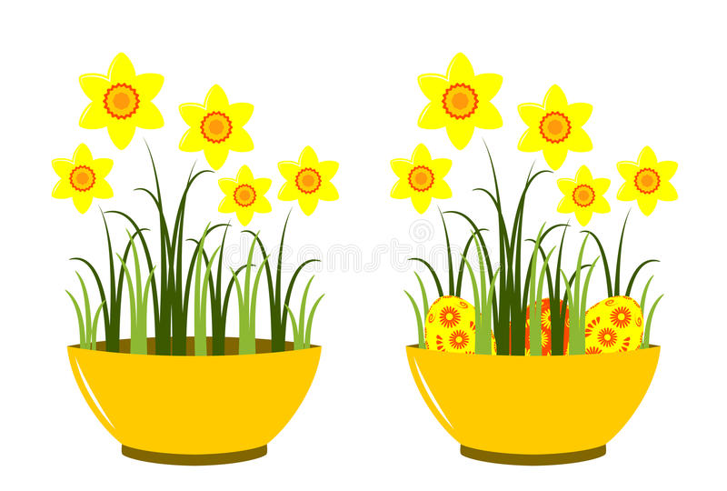 Download Daffodils in bowl stock vector. Image of narcissus, abstract - 22479015